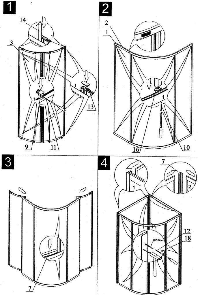 инструкция по сбору душевой кабины - фото 4
